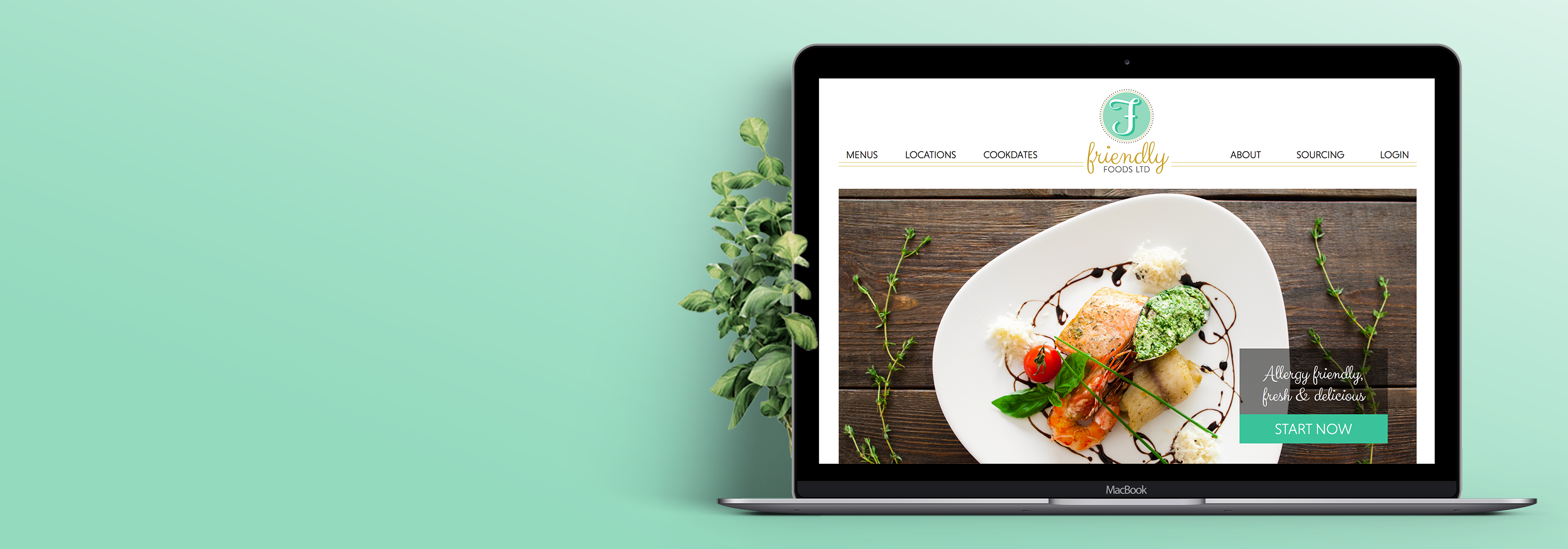 Friendly Foods Website Design and Development